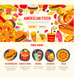 fast food restaurant menu banner template vector image vector image