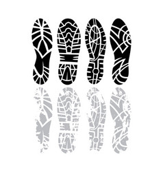 footprint set vector image vector image