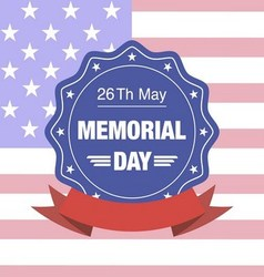 memorial day blue label vector image