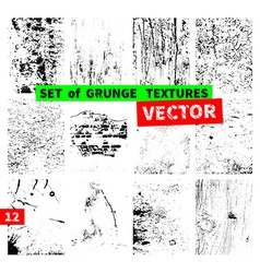 Set of grunge textures vector image vector image