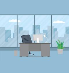 design of modern office designer workplace vector image