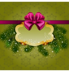 Festive Christmas background with frame vector image