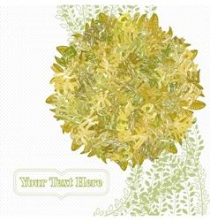 Letterleaf Autumn Tree vector image