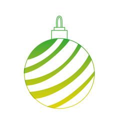 silhouette circle ball to merry christmas vector image