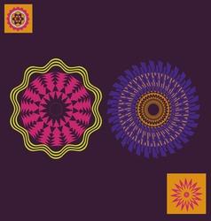 spring floral meditation print vector image vector image