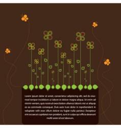 spring text frame vector image vector image