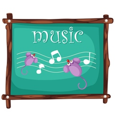Music notes on blackboard vector
