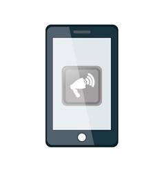 Smartphone with bullhorn vector