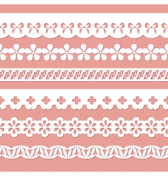 white seamless paper laces vector image vector image