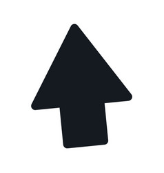 Arrow up direction web upload pictogram vector