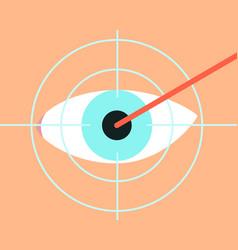 laser vision correction vector image