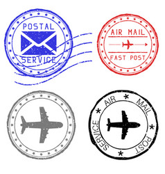 mail stamps for envelopes vector image vector image