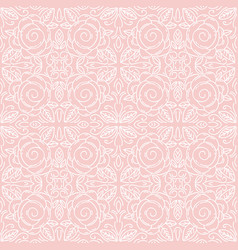 pink floral seamless patterns ideal for printing vector image