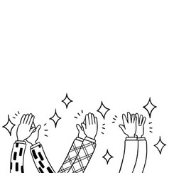 006-hand drawn human clapping ovation applaud vector