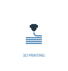 3d printing concept 2 colored icon simple blue vector image