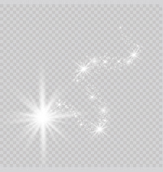 A bright comet with falling star glow light vector