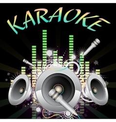 Background music karaoke vector image