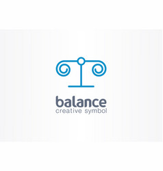 Balance justice creative symbol concept lawyer vector