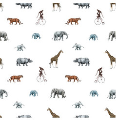 beautiful stock seamless pattern with cute vector image