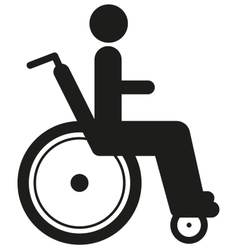 Black icon disabled person in wheelchair World vector image
