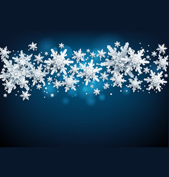blue realistic snow card vector image