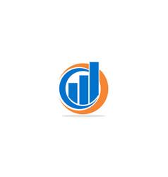 Business graph logo vector