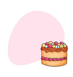 Cake with place for text vector