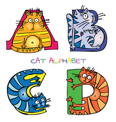 cat alphabet a b c d vector image