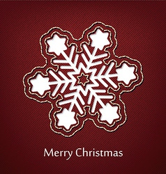 christmas postcard design with denim jeans vector image