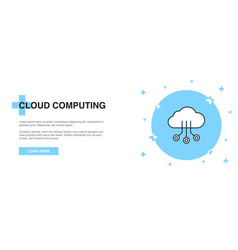 cloud computing icon banner outline template vector image