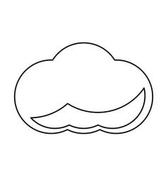 Cloud computing symbol vector