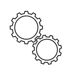 Cogwheels white icons vector