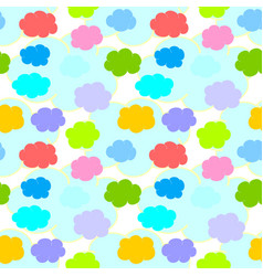 Colorful clouds on a transparent background vector
