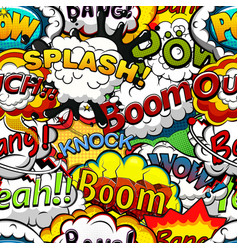 comics speech bubbles seamless pattern vector image