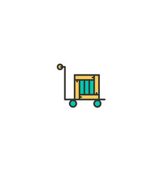 delivery cart icon line design business icon vector image