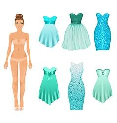 Dress up doll vector