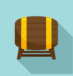 drink barrel icon flat style vector image