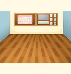 Empty interior classroom scene vector