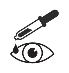 Eye drop icon dropper isolated on white vector