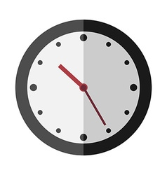 Flat style clock isolated vector image
