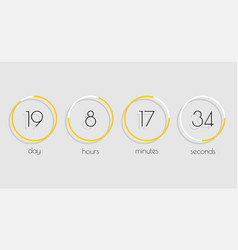 flip countdown timer clock counter with shadow in vector image