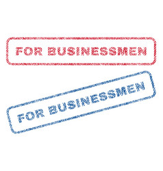 For businessmen textile stamps vector