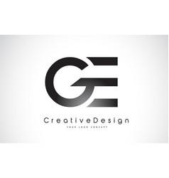 Ge g e letter logo design creative icon modern vector