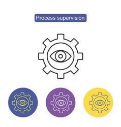 gear eye symbol icon vector image