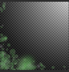 Green flower petals falling down ecstatic romanti vector