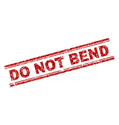 grunge textured do not bend stamp seal vector image