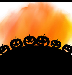halloween background on watercolour texture vector image