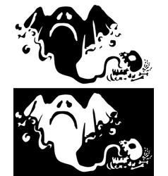 Halloween monster silhouette ghost vector