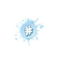 Handwritten hashtag sign vector