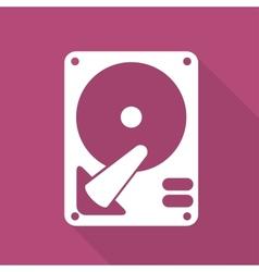 Hard disc icon vector
